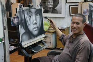 Peinture - Tableau - Thaïlande - Artisanat