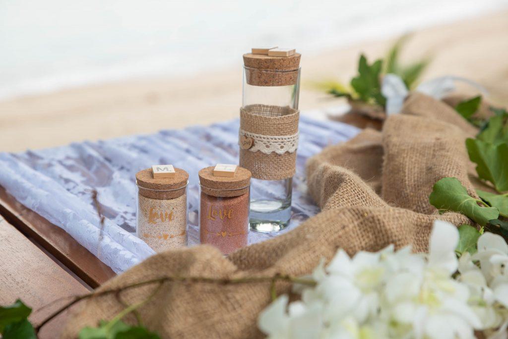 cérémonie du sable - mariage - Oui Au Paradis